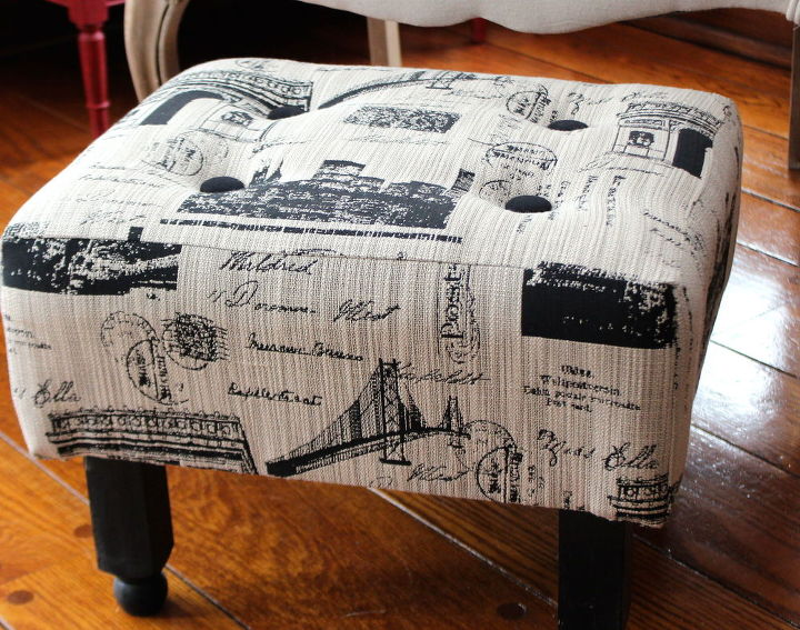 In less than an hour, you can make this easy ottoman.