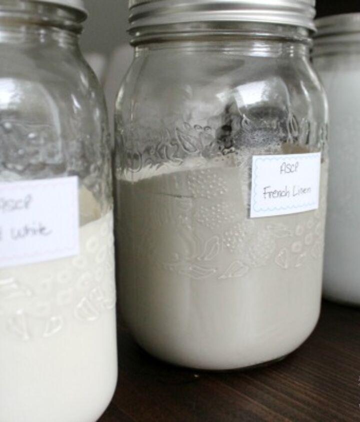 Organize leftover paints in mason jars