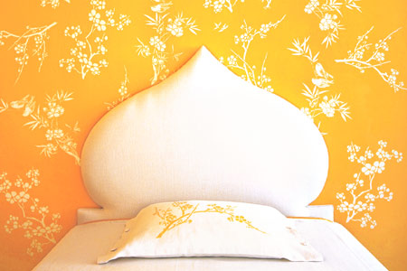 Combine a few different stencils and you can create a custom pattern shaped to surround and highlight a favorite feature of your room. The work goes quickly once you get the hang of it. RELATED: Pro Stencil Secrets http://ow.ly/uR