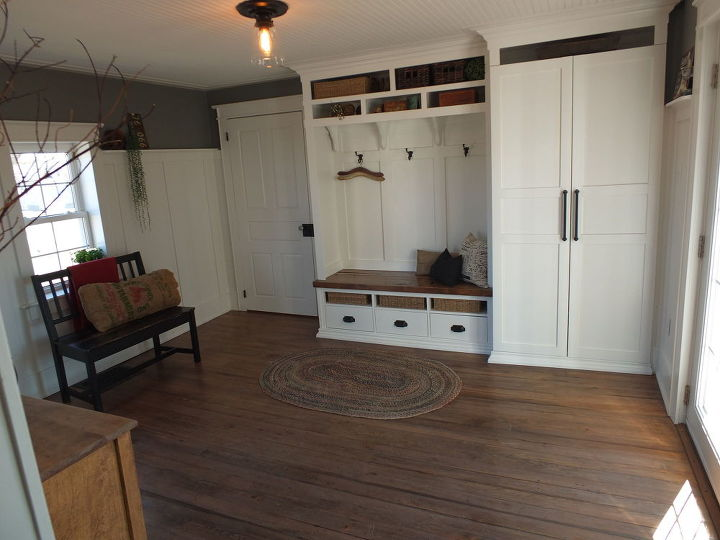 1854 Farmhouse Summer Kitchen ~ Transformed Into a Beautiful Mudroom ...