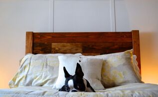 reclaimed wood style headboard, diy, how to, painted furniture, repurposing upcycling, woodworking projects