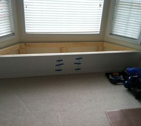 Bay Window Flip Top Storage Bench, Storage Ideas, Woodworking Projects,  Wainscoting Across The
