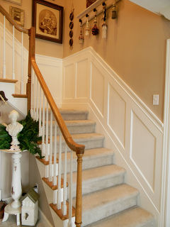My stairwell with painted scallops and new wainscoting. | Hometalk on stairway decorating, stairway to success, stairway colors, stairway art, stairway wallpaper, stairway balusters, stairway painting, stairway bookcases, stairway windows, stairway drawing, stairway storage, stairway cabinets, stairway closets, stairway designs, stairway framing, stairway walls, stairway baseboard, stairway doors, stairway paneling, stairway down,