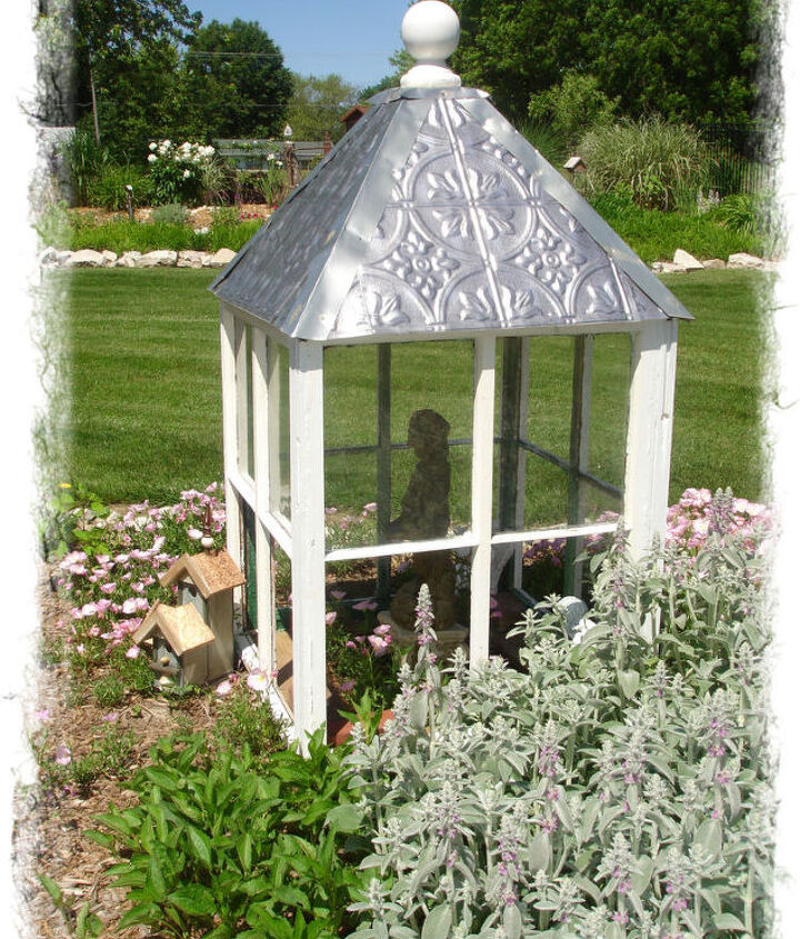 my garden cupola, gardening, repurposing upcycling