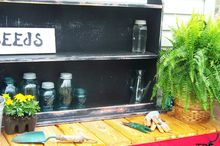 my new potting bench, gardening, outdoor furniture, outdoor living, painted furniture