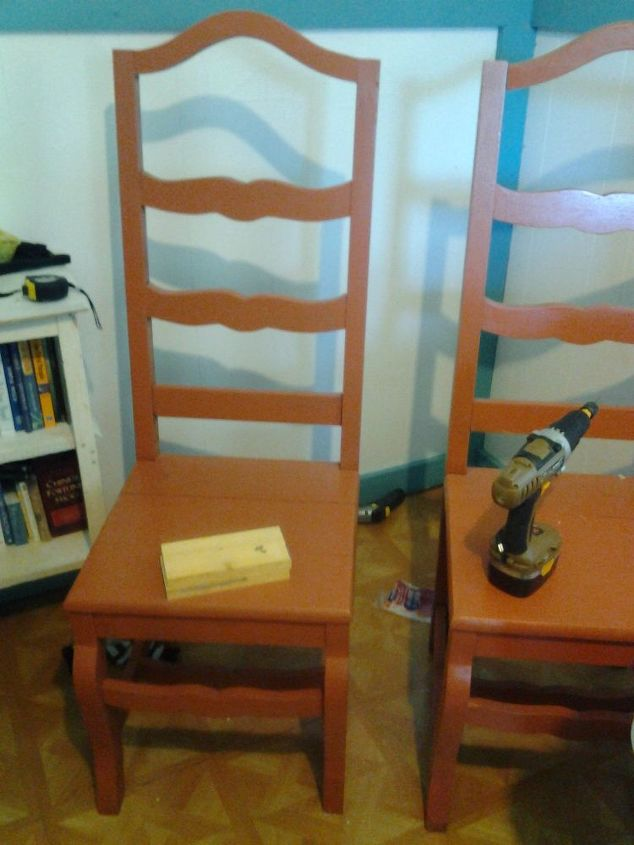 chairs up cycled to guest bed, bedroom ideas, home decor, painted furniture, repurposing upcycling