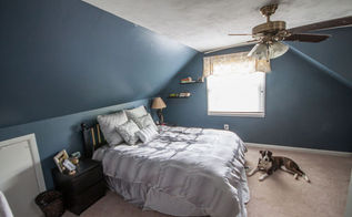 diy master bedroom makeover for a small room, bedroom ideas, home decor, painted furniture