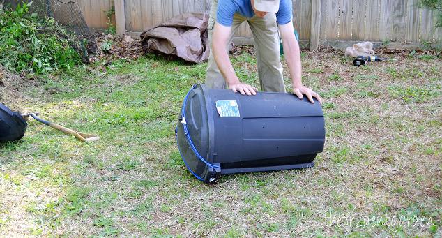 Diy Compost Tumbler Composting Gardening Go Green