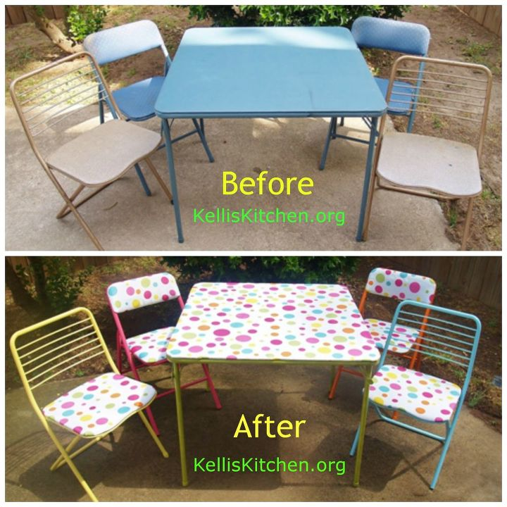 from dumpster bound to retro groovy in one day, outdoor furniture, painted furniture