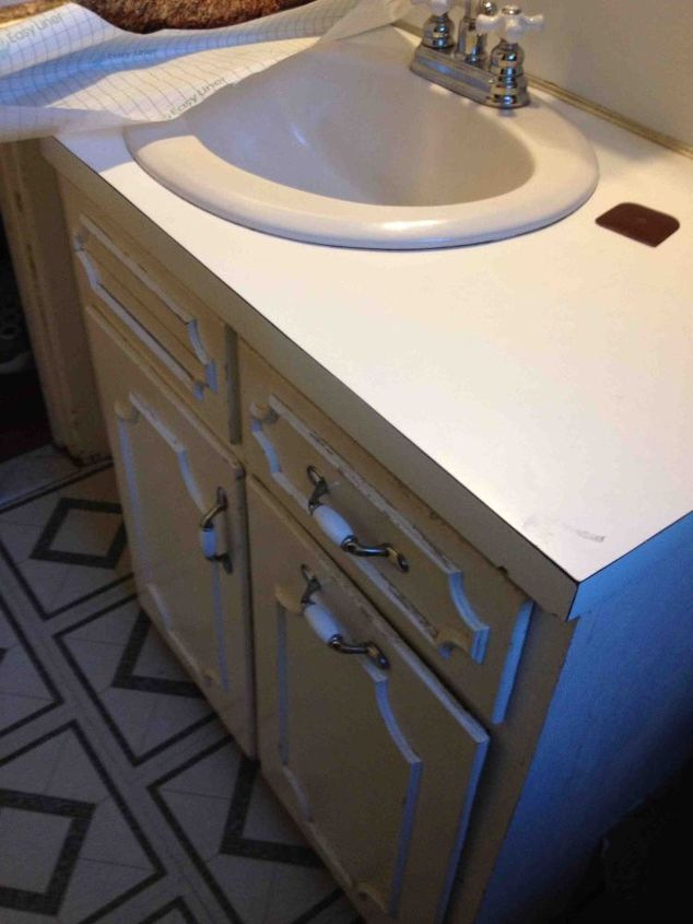 new vanity, bathroom ideas, painted furniture, Old vanity
