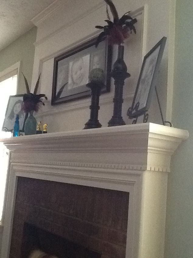 q installing flat screen tv above fireplace, fireplaces mantels, home maintenance repairs, wall decor, Area above the fireplace is all wood paneling and molding