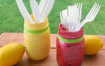 summer mason jars, crafts, mason jars, repurposing upcycling