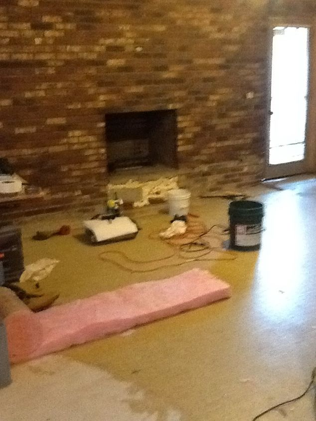 save yourself some money re doing that ugly fireplace, concrete masonry, fireplaces mantels, Ugly ugly ugly