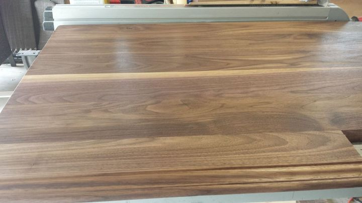 Homemade Walnut Kitchen Countertop Countertops Diy How To Design Woodworking