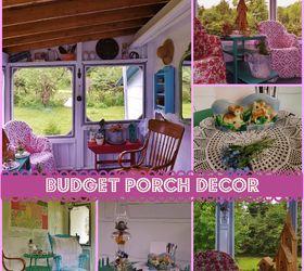 Budget Porch Decor, Curb Appeal, Outdoor Furniture, Porches
