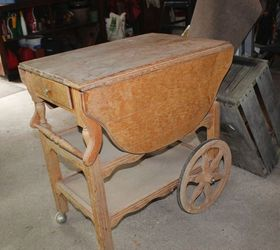 furniture upcycle tea cart diy dining room ideas home decor painted furniture