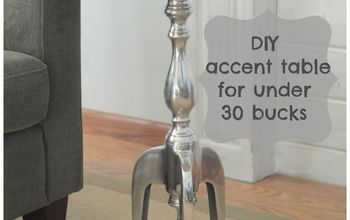 DIY Metal Accent Table