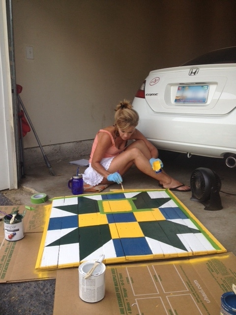 Painting the boards!