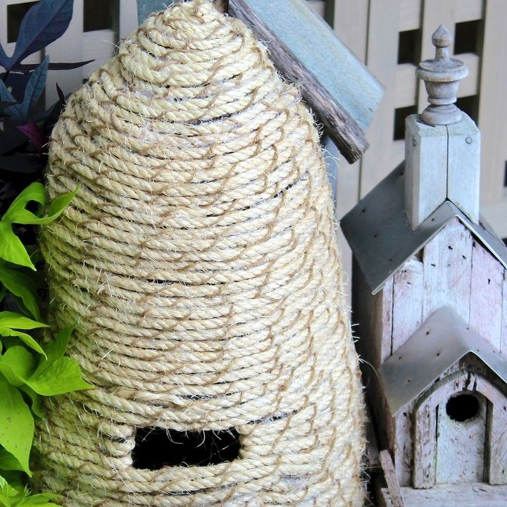 diy bee skep, crafts, gardening, outdoor living