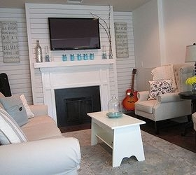 garage converted to a family room, garage doors, garages, home decor, living room ideas
