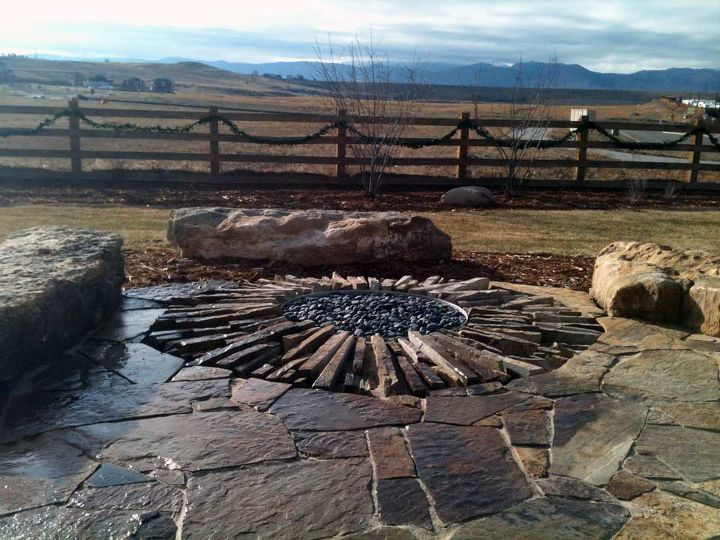 inspirational in ground fire pits, landscape, outdoor living