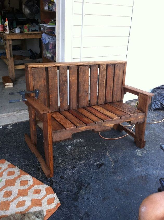 Well Known Pallet Wood Bench Us93 Roccommunity