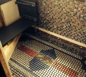 Diy Bathroom Floor Ideas Part - 30: Beer Bottle Cap Wall Floor, Bathroom Ideas, Diy, Flooring, Repurposing  Upcycling,