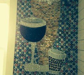 Beer Bottle Cap Wall Floor, Bathroom Ideas, Diy, Flooring, Repurposing  Upcycling,