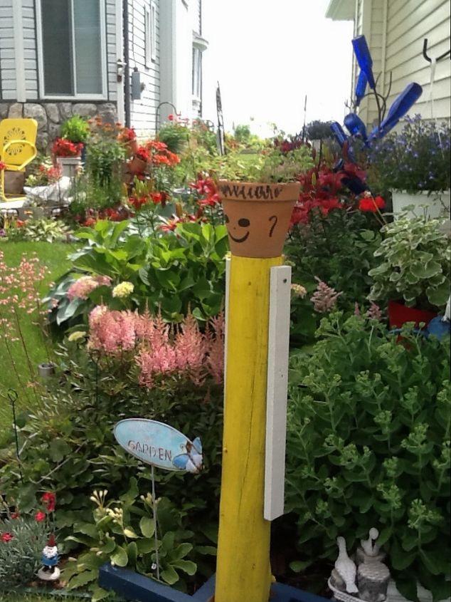 my street garden, flowers, gardening, repurposing upcycling, Pot head