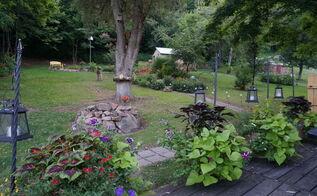 west virginia garden backyard, container gardening, flowers, gardening, outdoor living, The view from our deck