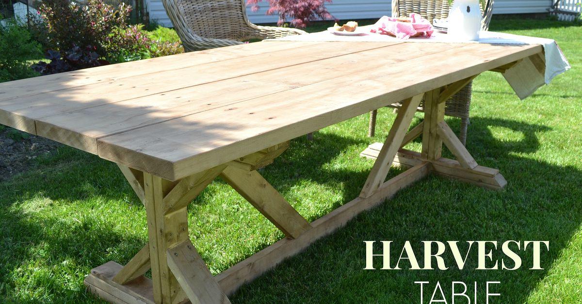 outdoor harvest table hometalk