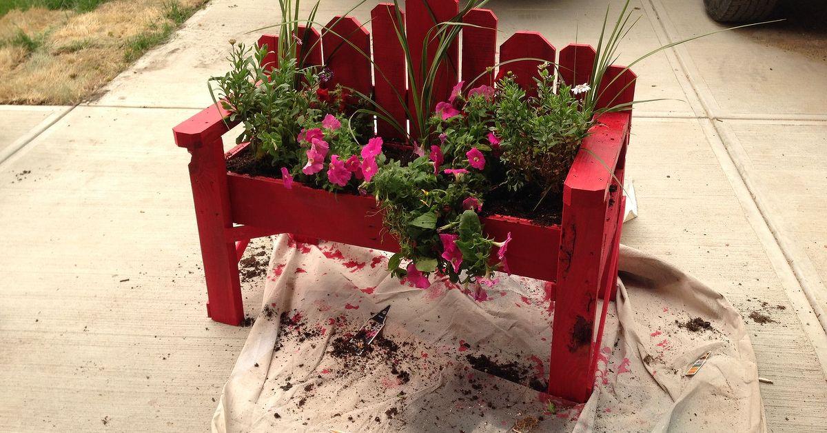 Rustic Bench Planter Box Hometalk