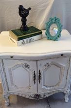 shabby chic side table, painted furniture, shabby chic