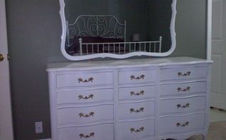 old dresser from hospice resell shop restored, painted furniture, Its new home