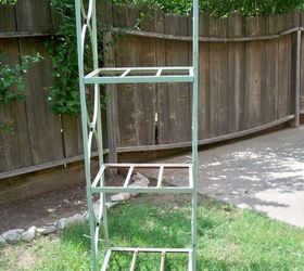 Metal Shelving To Garden Rack, Flowers, Repurposing Upcycling, Metal Rack  Needing A New