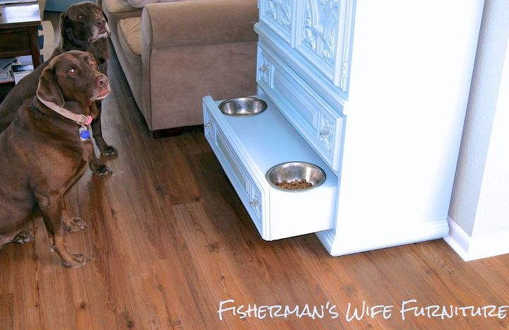 dog food storage armoire, painted furniture, pets animals, repurposing upcycling, storage ideas