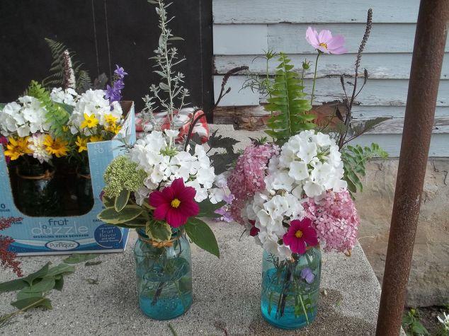 Wedding Decoration: Mason Jar Hanging Aisle Flowers | Hometalk