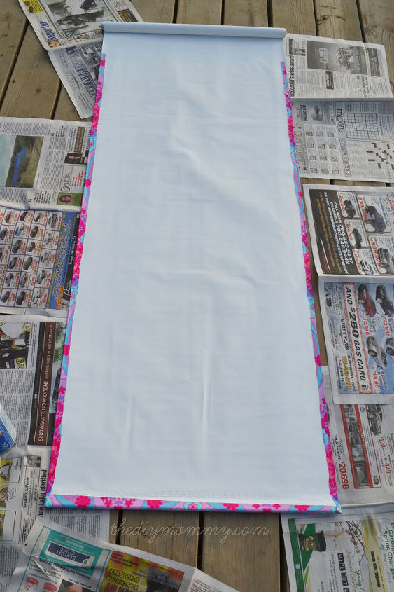 Diy Covering A Black Out Blind With Fabric Hometalk
