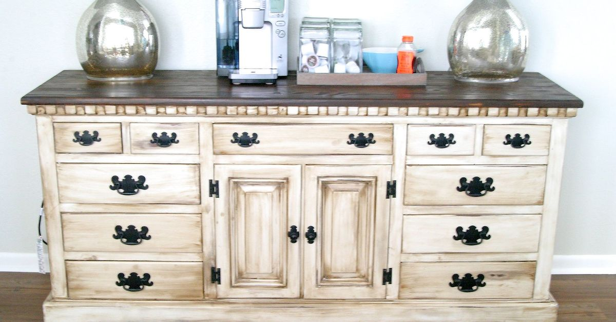 DIY Coffee Bar Buffet Dresser