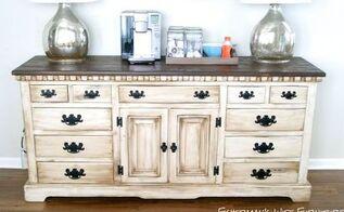 diy coffee bar buffet dresser, kitchen design, painted furniture