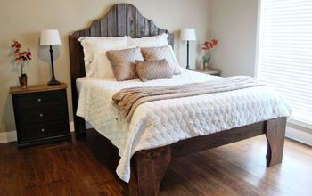 diy reclaimed wood bed, painted furniture, woodworking projects, Finished reclaimed wood bed