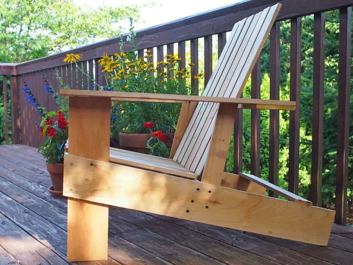 easy economical diy adirondack chairs 10 8 steps 2 hours, outdoor furniture, outdoor living, painted furniture