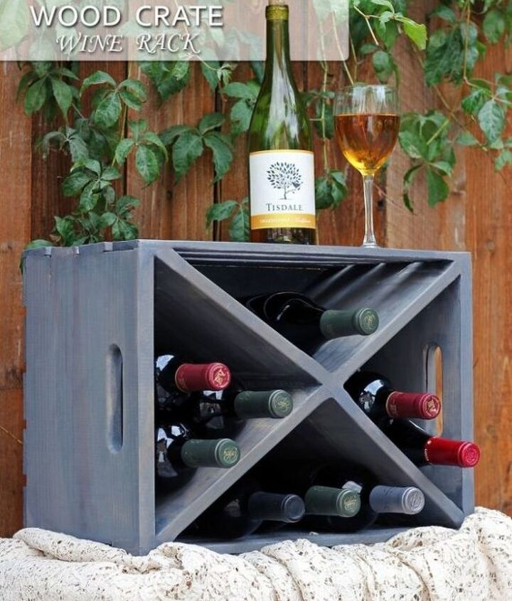 Wood Crate Turned Wine Rack Hometalk