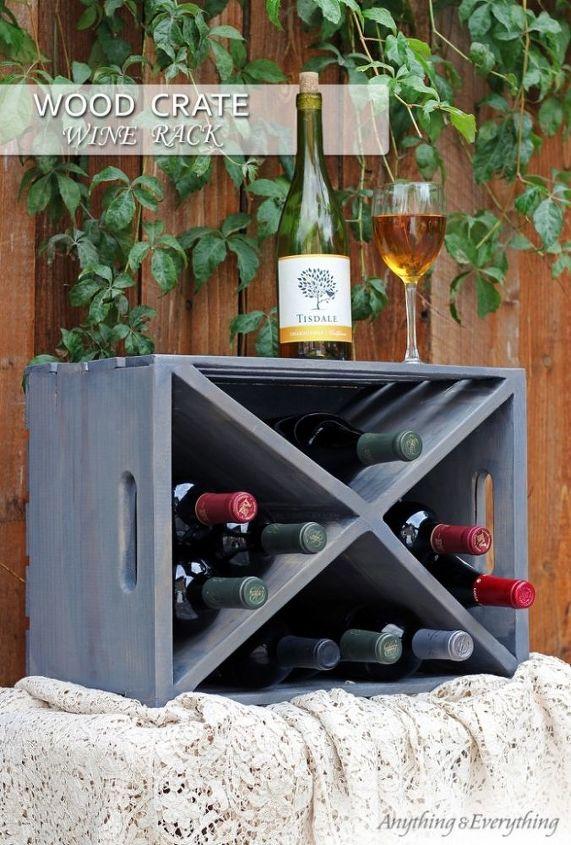 Wood Crate Turned Wine Rack Hometalk