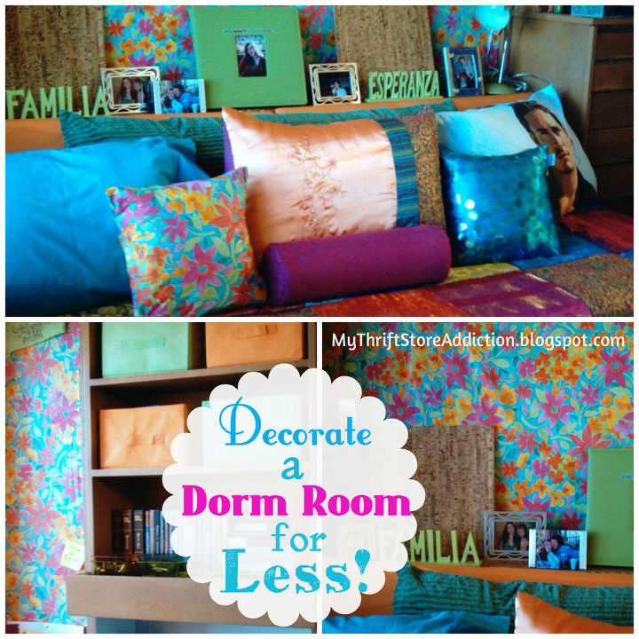 thrifty tips decorate a dorm room for less, bedroom ideas, home decor, repurposing upcycling