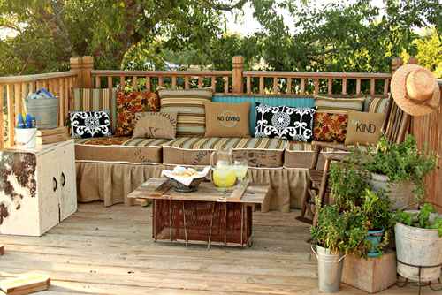 make your own outdoor furniture hometalk. Black Bedroom Furniture Sets. Home Design Ideas