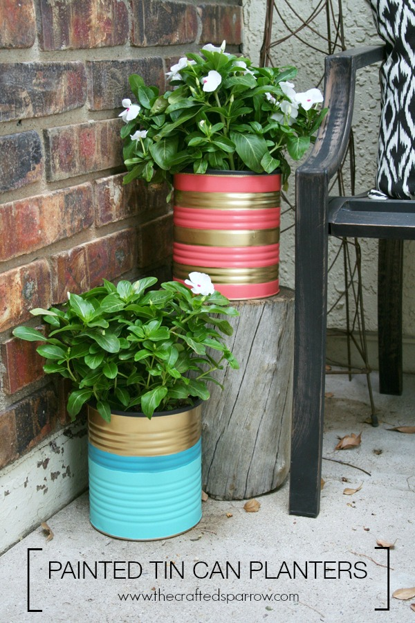 Painted tin can planters hometalk painted tin can planters workwithnaturefo