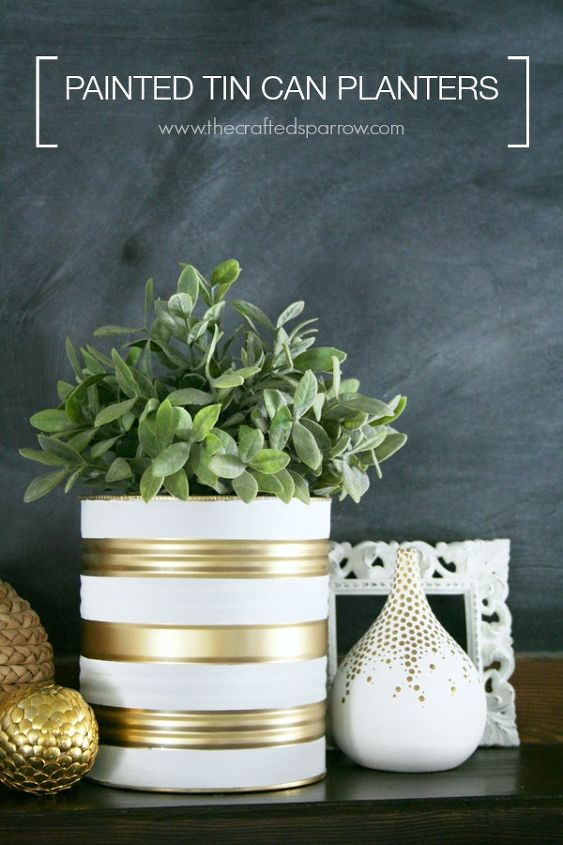 pretty painted tin can planters, container gardening, crafts, diy, gardening, repurposing upcycling