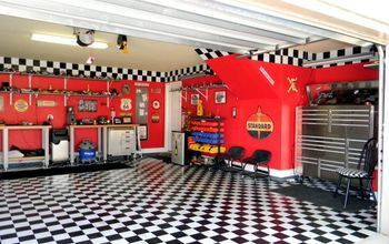garage, entertainment rec rooms, garages, home decor, My husbands garage area We needed a proper space to park our 57 Chevy truck