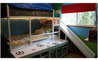 bedroom ideas boys room bedframe, bedroom ideas, chalkboard paint, organizing, storage ideas
